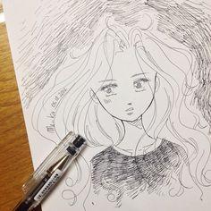 wake up hair | #mekaworks #drawing