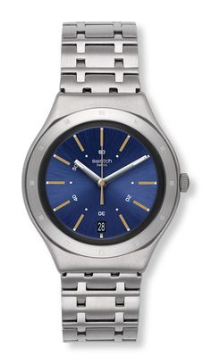 Swatch Irony Dirigent Uhr YGS472G Analog Edelstahl Silber 1a06f0d46b