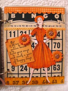 Fun Bingo piece use old magazine and paper to make a fun detailed display piece, make several at a time! Atc Cards, Bingo Cards, Journal Cards, Junk Journal, Kids Stamps, Vintage Cards, Vintage Images, Halloween Items, Pocket Letters
