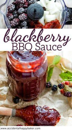 Blackberry Bbq Sauce Recipe, Homemade Bbq Sauce Recipe, Sauce Recipes, Homemade Seasonings, Fruit Recipes, Dessert Recipes, Pavlova, Cheesecake Oreo, Recipes