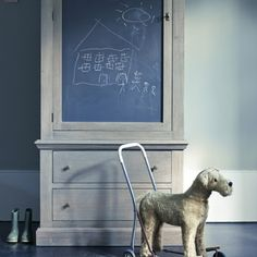 Whitby Chalkboard Pantry Cupboard