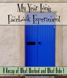 My Year Long Facebook Experiment continues - I've hit the 3 month marker where I can start to see what's working with my Facebook experiment and what didn't.