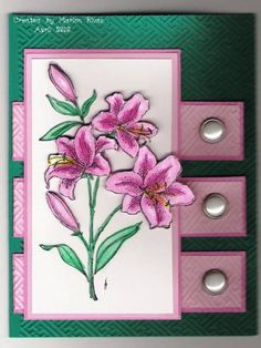 Lillies  Card by Marion Rivas