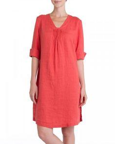 Long Linen Tunic Dress
