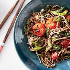 Noodle Salads: Thai-style Beef (Larb) Salad over Angel-Hair Pasta via Food & Wine Magazine