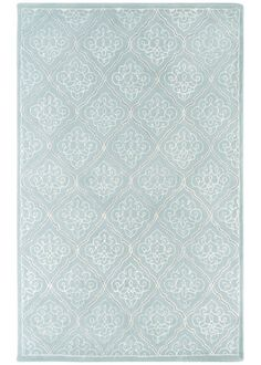 Candice Olson Modern Damask Classics Pale Blue Hand Tufted Wool Rug