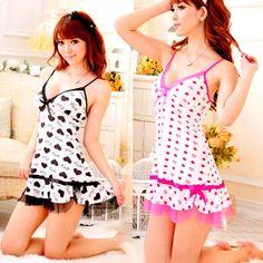 Beautiful Soft Sexy Nightgown Babydoll Sleepwear Pajamas Pyjamas With Underwear #OOPSU #PajamaSets