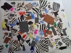 Zoo animal collage!   Sensory art project for preschool