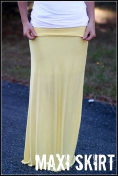 Free Maxi Skirt Tutorial (actual tutorial, not just a link)....I wish I could sew I would have a bunch of these!!