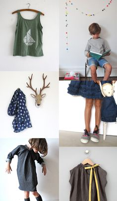 { In the picture 1. triangle boat tank top 2. Sweat Louis 3. Foulard Noé Un oiseau 4. ruffles 5. ✭ ✭✭ 6. zu lily } Just lovely and inspiring Pinterest mood-board : 'Style Enfant' for you today from Trendy...