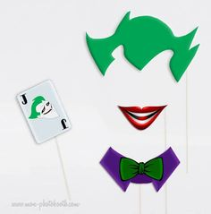 Kit super héros Photobooth Accessoires 3 Lego Batman Party, Batman Birthday, Superhero Birthday Party, 6th Birthday Parties, Halloween Birthday, Birthday Stuff, Boy Birthday, Joker Cake, Le Joker Batman