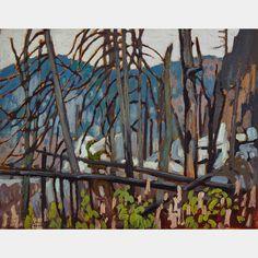"""Algoma Sketch,"" Lawren Harris, 1919, oil on panel, 10.5 x 13.5"", private collection."