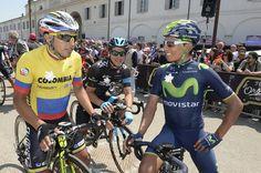 Giro d'Italia 2014 - Stage 10 - Nairo Quintana (Movistar) at the start of Stage 10