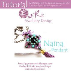 Bead tutorialPendant tutorialNaina by KozRiJewelleryDesign on Etsy, $11.00