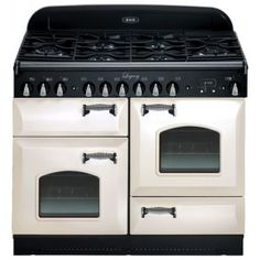 "Legacy 44"" Ivory Dual Fuel Sealed Burner Range - Convection"