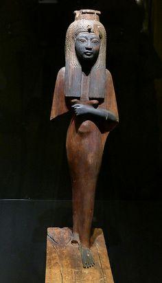 Historisches Museum der Pfalz Speyer Leihgabe aus dem Museum Turin  Statuette der Ahmes Nefertari mit Geierhaube  Neues Reich, 18 - 20. Dyn.