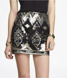 Sequin mini skirt from EXP Trendy sequin skirt, black and gold mini skirt from express. Pre-loved, still in great condition Express Skirts Mini Sequin Mini Skirts, Sequin Skirt, Embellished Skirt, Metallic Skirt, Tribal Skirts, Aztec Skirt, Cute Skirts, Passion For Fashion, Ideias Fashion