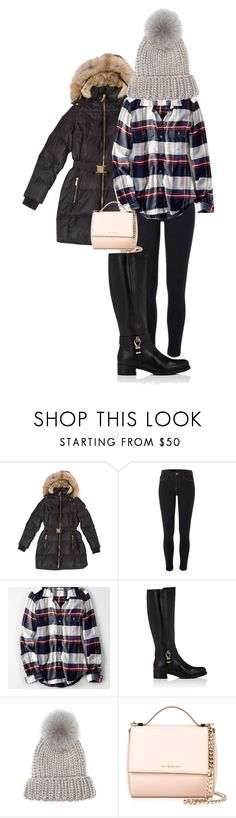 """""""Untitled #673"""" by karinasoto39 on Polyvore featuring MICHAEL Michael Kors, River Island, American Eagle Outfitters, Barneys New York, Eugenia Kim and Givenchy"""