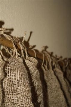 burlap curtains going to do this for my upstairs bathroom, will still get enough light for my plants.: