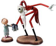 WDCC The Nightmare Before Christmas Santa Jack And Timmy A Ghoulish Gift