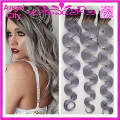Find More Hair Weaves Information about wholesale 8A Brazilian Ombre Hair Weaves Body Wave 1B/Grey Two Tone ombre hair extensions 3Pcs/lot free shipping,High Quality hair foundation,China lot aeropostale Suppliers, Cheap hair buns long hair from Angel City 2012 on Aliexpress.com