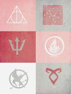Harry Potter, Maze Runner, Percy Jackson, Divergent, Hunger Games, Shadow Hunters