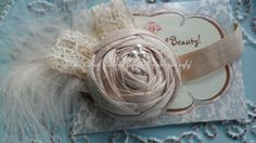 Baby Girl Headbands Baby Flower Headband Raw Silk by neishasblue, $12.95