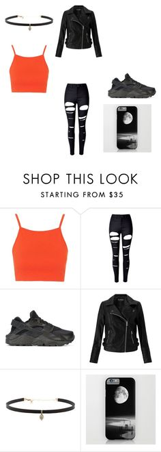 """""""badass thou"""" by brittrolon on Polyvore featuring Topshop, WithChic, NIKE, Miss Selfridge and Carbon & Hyde"""