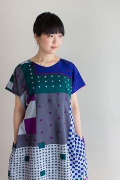 Sou Sou - Rectangle Sleeveless One Piece Dress - with side pockets