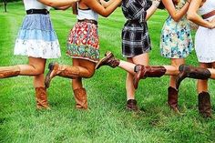 Cowgirl line up sundress and cowboy boots are the perfect pair!