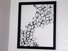 Faux Wrought Iron Wall Art For Under $5  #howto #tutorial