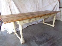 Antique Quebec farm house table