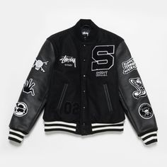 Stüssy Launches Sydney Chapter Store With Skull-Heavy Supply Collaboration: Commemorating a long-running partnership. Varsity Jacket Outfit, Stylish Clothes For Women, Work Jackets, Teenager Outfits, Motorcycle Jacket, Adidas Jacket, Street Wear, Product Launch, Menswear