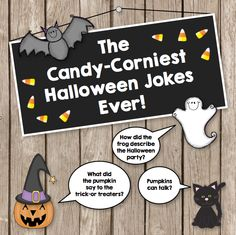 $ Eight Corny Halloween puns to enjoy or groan at! This is a fun Halloween teaching resource.