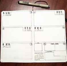 One spread Mon-Thursday One spread Sat/Sunday with Thankful page