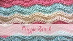 Ripple Stitch Crochet Tutorial - YouTube
