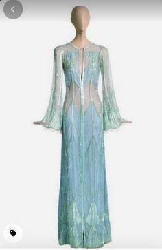 Bob Mackie, Chiffon Gown, Dance Dresses, Cher, Sequins, Gowns, Couture, Disney Princess, Celebrities