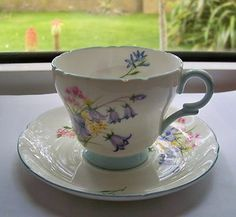 Vintage Shelly Tea Cup and Saucer in the Wild Flowers Design from my collection