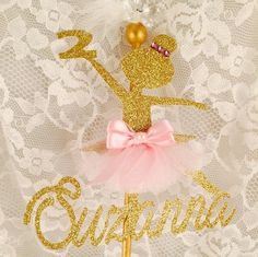 Ballerina Cake Topper - Ballerina Birthday Party - Ballerina Party Decorations…