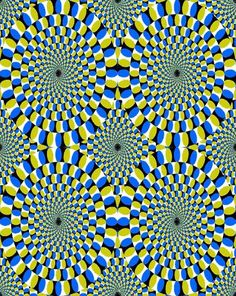 look at it. it moves. mind tricks....
