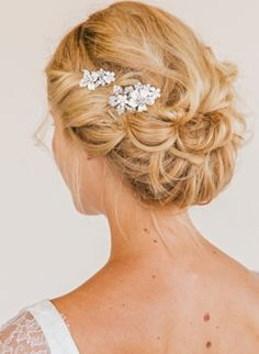 Like the hair decoration as well as the up-do,