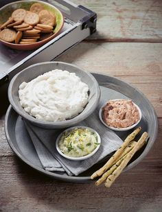 Breakfast Snacks, Appetizer Dips, Greek Recipes, Salad Dressing, Salads, Food And Drink, Rice, Yummy Food, Healthy Recipes