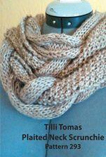Plaited Neck Scrunchie from Tilli Tomas