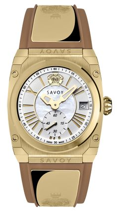 Savoy Icon Light 35mm Swiss Made Ladies Watch Yellow Gold IP – Camel. The most popular watch for ladies