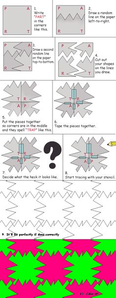 how to make a tessellation - not tried this method but it gives interesting results so must do soon