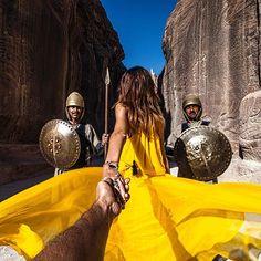 Follow me to Petra entrance in Jordan ... (Follow Me Project - Murad Osmann )
