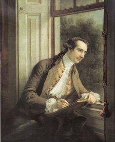 Francis Cotes, Portrait de Paul Sandby, huile sur toile vers 1760, Tate Gallery…