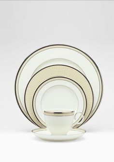 The first set of fine china I've ever coveted is this, Noritake's Cameroon Sand...