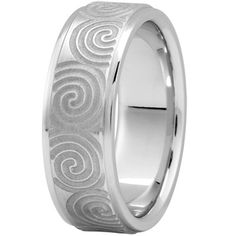 FANCY CARVED WEDDING BAND