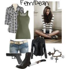 Not the shorts or belt. Round toe boots instead. Add the amulet, his rings, bracelets, and a waterproof watch. Supernatural Costume, Supernatural Inspired Outfits, Supernatural Fashion, Casual Cosplay, Cosplay Outfits, Dean Winchester Outfit, Winchester Supernatural, Zombie Apocalypse, Teen Fashion Outfits